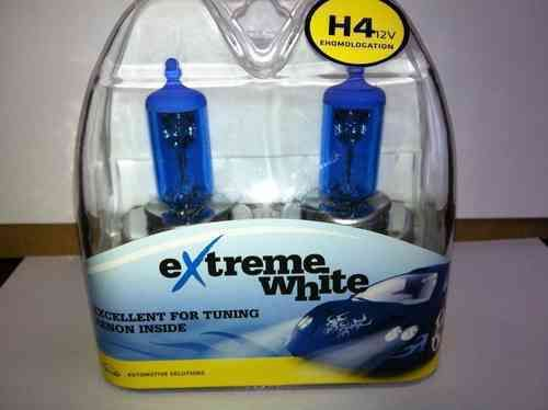 PACK H4 P43t EXTREME WHITE 100/90W 12V 2 AMPOULES