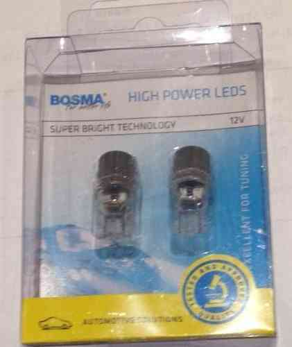 T10 HIGH POWER LED  BLANC 12V